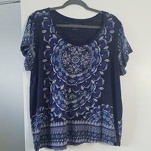 Lucky Blue Linen Blend T-Shirt